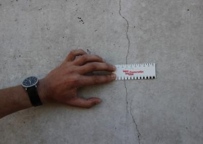 Rissbildung in einem WU-Beton